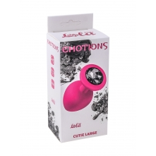 Анальная пробка Emotions Cutie Large Pink black Crystal